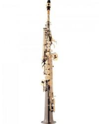 Detalhes do produto Saxofone Soprano Bb SP502-BG Preto Onix EAGLE