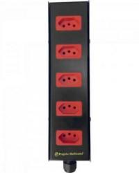 Detalhes do produto Caixa Retangular 5 Tomadas e 1 Prensa Cabo 2089N PROJETA