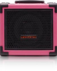 Detalhes do produto Caixa Multiuso 20W Bluetooth/USB/SD/FM IRON 80 Rosa HAYONIK