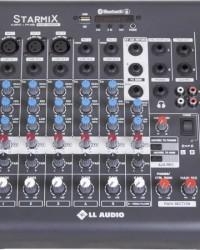 Detalhes do produto Mesa de Som 6 Canais Stereo Starmix XMS602R Cinza LL AUDIO