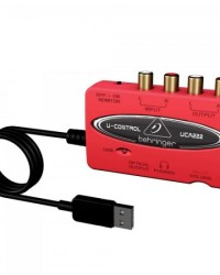 Detalhes do produto Interface Digital de Áudio USB U-CONTROL UCA222 Vermelho BEHRINGER