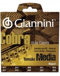 Detalhes do produto Encordoamento para Viola Caipira Aço Média GESVNM Série Cobra GIANNINI