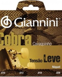 Detalhes do produto Encordoamento para Cavaco Aço Leve GESCL Série Cobra GIANNINI