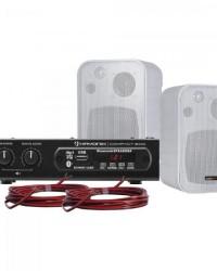 Detalhes do produto Kit Som Ambiente 200W Musical AMBIENCE 2000 Branco HAYONIK
