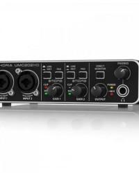 Detalhes do produto Interface de Áudio Digital U-PHORIA UMC202HD Preto BEHRINGER