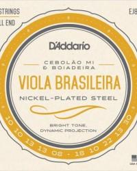 Detalhes do produto Encordoamento para Viola EJ82C Nickel Plated Steel D'ADDARIO