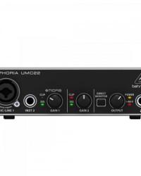 Detalhes do produto Interface Digital UMC22 Preto BEHRINGER