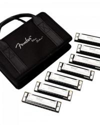 Detalhes do produto Kit Gaita Fender com 7 BLUES Deluxe e Case