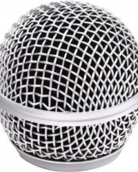 Detalhes do produto Globo Metálico para Microfone sem Fio 54mm Prata MXT