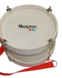 Detalhes do produto Dolphin Bumbo Infantil 8 Polegadas Madeira Pele Leitosa 8462 Infantil