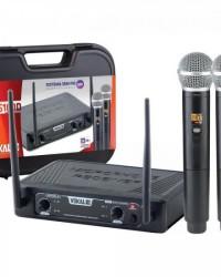 Detalhes do produto Microfone Sem Fio Duplo DVS100DM VOKAL