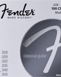 Detalhes do produto Encordoamento para Violão Nylon .028 100 CLEAR Prata Pura FENDER