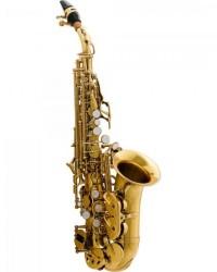 Detalhes do produto Saxofone Soprano Curvo Bb HCSSC-310GL Laqueado HARMONICS