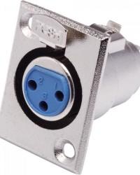 Detalhes do produto Conector Cannon XLR Fêmea Painel JCCN0010 Níquel STORM - PCT / 10