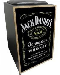 Detalhes do produto Cajon Acústico Inclinado Profissional K2 COR-008 Jack Daniels JAGUAR