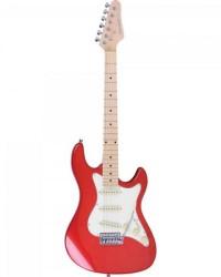 Detalhes do produto Guitarra Strato STS-100 Vermelha STRINBERG