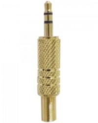 Detalhes do produto Plug P2 Stereo com Mola Gold GENÉRICO - PCT / 50