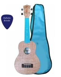 Detalhes do produto  Ukulele Winner Azul Soprano ABS Colors Series + Capa