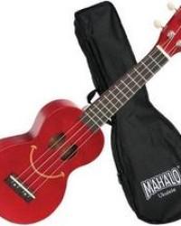 Detalhes do produto Ukulele Soprano Mahalo U-smile Sorriso Cordas Aquila Vermelho