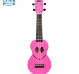 Detalhes do produto Ukulele Soprano Mahalo U-smile Sorriso Cordas Aquila Rosa + capa
