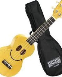 Detalhes do produto Ukulele Soprano Mahalo U-smile Sorriso Cordas Aquila Amarelo Natural