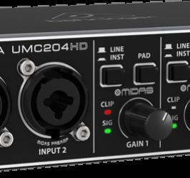 Detalhes do produto Interface de áudio - UMC204HD - Behringer
