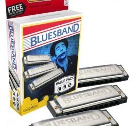 Detalhes do produto Kit com 3 Harmonicas Blues Band 559/20 (A, C, G) - Hohner