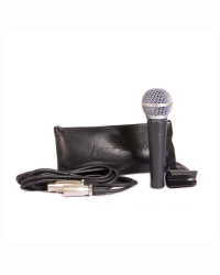 Detalhes do produto Microfone Lexsen cardioide Cabo 3m c/Cachimbo - LM-58