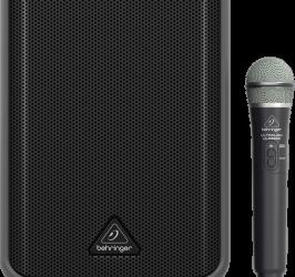 Detalhes do produto Caixa Portatil C/Bateria E Mic. S/Fio Mpa100bt - BEHRINGER