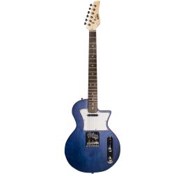 Detalhes do produto Guitarra Les Paul Newen - Frizz Blue Wood - Cor azul