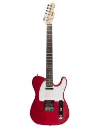 Detalhes do produto Guitarra Tele Newen - TL Red Wood - Cor Vermelha