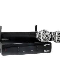 Detalhes do produto Microfone Lexsen UHF 2 canais de frequencia fixa - XSL 502