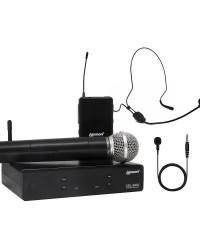 Detalhes do produto Kit Microfone Lexsen UHF 2 canais de freq. fixa - XSL 503