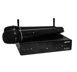 Detalhes do produto Microfone Lexsen UHF Multi-freq. 2 bastoes - XSL 502 PLL
