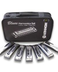 Detalhes do produto Kit Blues c/7 Harmonicas (C, D, E, F, G, A, BB) - HOHNER