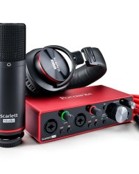Detalhes do produto Kit Interface Mic. Headphone - SCARLETT 2I2 STUDIO-Focusrite