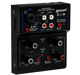 Detalhes do produto Mesa de Som de 1 Canal com Interface de Audio USB - Go Mix 1- Lexsen