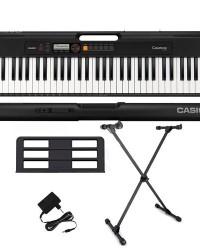 Detalhes do produto Kit Teclado Casio Tone CT-S200 BK Musical Digital 61 Teclas Com Suporte