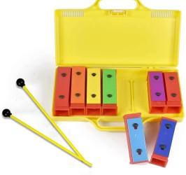 Detalhes do produto Xilofone  Glockenspiel   8 Notas Diatonicas  com maleta